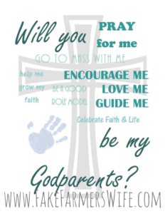 01b1ce8d7b2ca Will you be my Godparents? Free Printable in 4 colors, add your ...