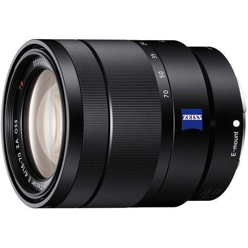 Sony Vario Tessar T E 16 70mm F 4 Za Oss Lens Sel1670z B H Mirrorless Camera Sony E Mount Sony Camera