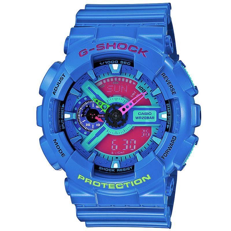 8449ba30e1ae8 Casio G-Shock GA-110HC-2AER Hyper Complex Watch (Blue   Pink ...