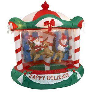 Christmas Inflatable Carousel Google Search