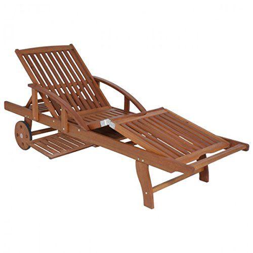 Sunlounger Sonnenliege Liege Eukalyptus FSC Sonnenliege Holz - lounge gartenmobel gunstig