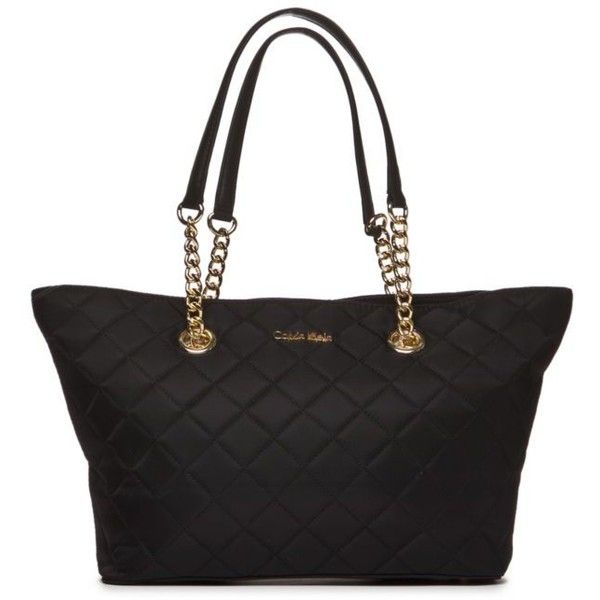 Calvin Klein Black Quilted Florence Tote 138 Liked On Polyvore Featuring Bags Handbags Tote Ba With Images Black Handbag Tote Calvin Klein Tote Bag Black Tote Purse