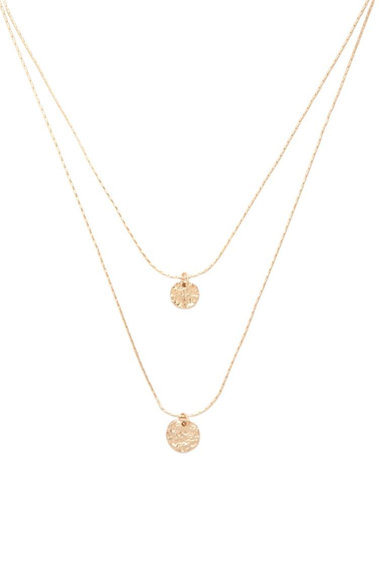 A highpolish layered necklace featuring a lightweight anchor chain