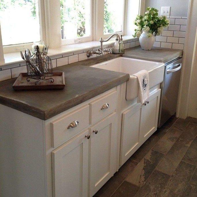 31 rustic farmhouse concrete countertops outdoor kitchen countertops kitchen remodel stylish on farmhouse kitchen decor countertop id=64612