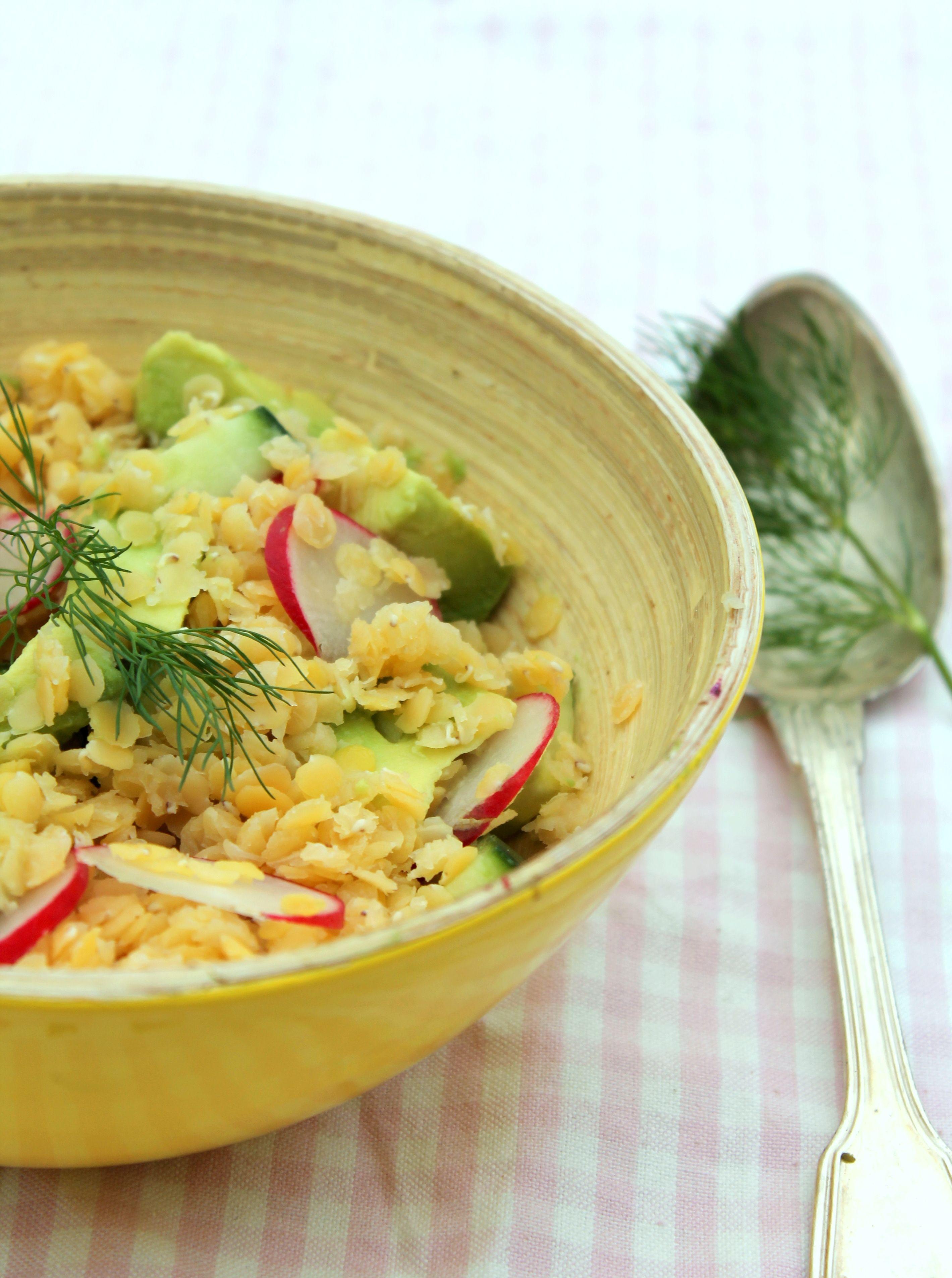 Salade de lentilles corail-concombre-radis (avec images ...