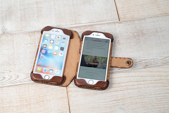 separation shoes 33a8c c5bae Leather Double Phone Case, Dual Phone Case, Leather iPhone case ...