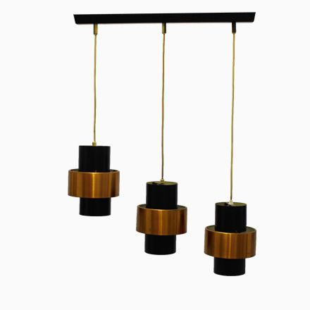 Hängelampe mit Drei Leuchten von Jo Hammerborg für Fog  Mørup - deckenleuchten für badezimmer