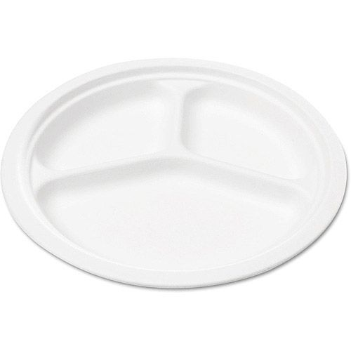 NatureHouse 10 Inch Bagasse Three-Compartment Round Plate  sc 1 st  Pinterest & NatureHouse 10 Inch Bagasse Three-Compartment Round Plate ...