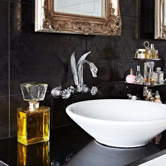 Contemporary bathroom with opulent touches