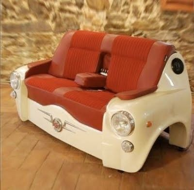 car, clever, design, funny, furniture, gift, idea, interior design, sofa, vintage, wishlist