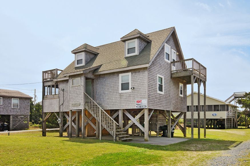 Sa46a Sunwood Cottage 3 Bedrooms 2 Baths On The Salvo Oceanside Cottage Nc Vacation House Styles