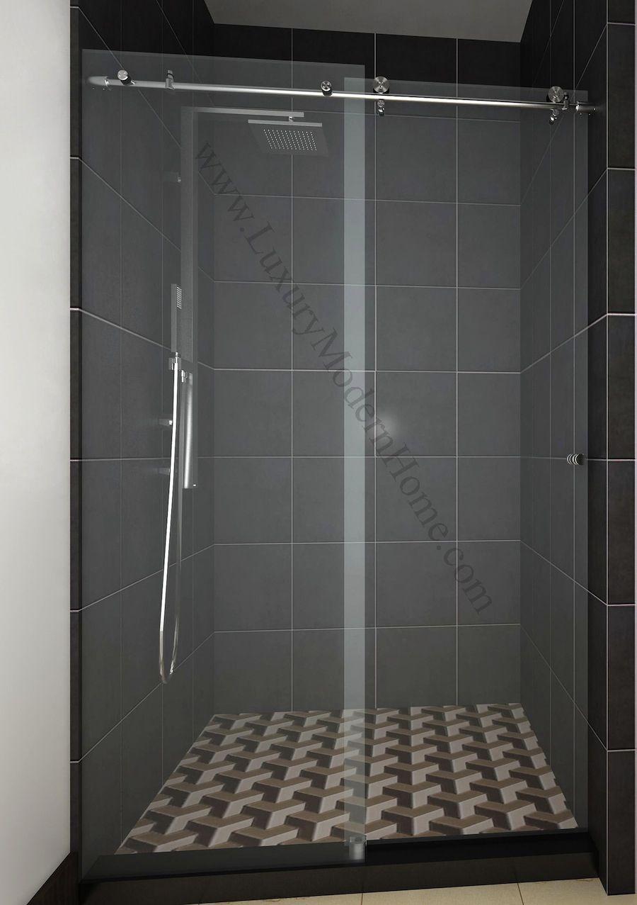 Cologne 2 Custom Frameless Sliding Glass Shower Door Hardware Only In Dimensions 900 X 1277
