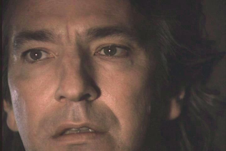 Alan Rickman's face