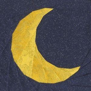 Crescent Moon Quilt Block Moon Quilt Paper Pieced Quilt