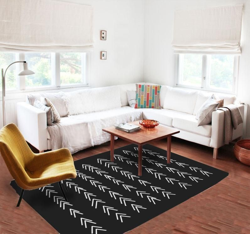 This Accent Rug Makes Magic This Black And White Rug Looks