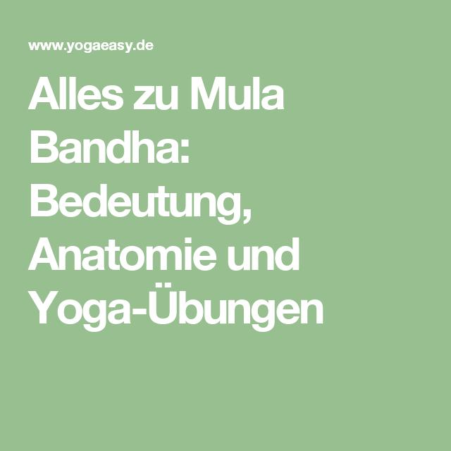 Alles zu Mula Bandha: Bedeutung, Anatomie und Yoga-Übungen   Yoga ...