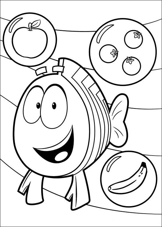 coloring page Bubble Guppies - Bubble Guppies | Cupcake project ...