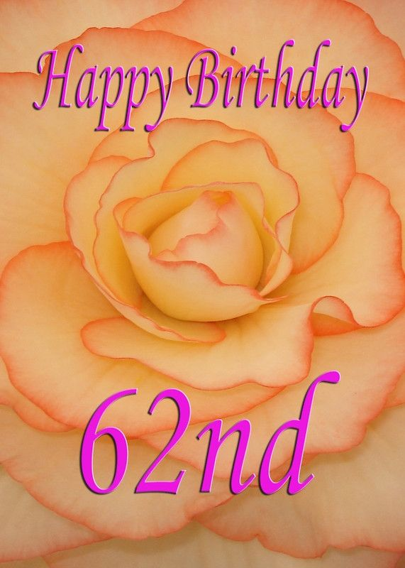 Happy 62nd birthday flower greeting card by martinspixs birthday happy 62nd birthday flower m4hsunfo