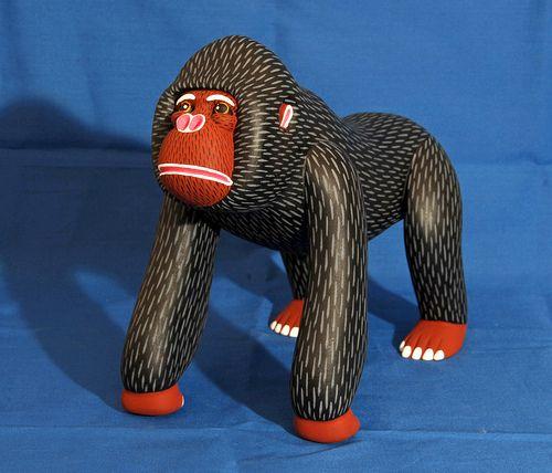 gorilla wood carving mexico by Teyacapan, via Flickr | folk n ...
