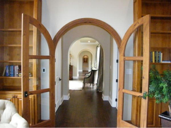 Using Arches In Interior Designs French Doors Interior Glass