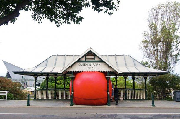 The Red Ball Project by Kurt Perschke