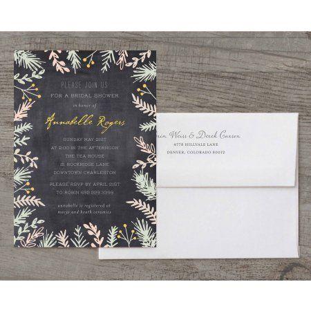 Bride Botanical Deluxe Bridal Shower Invitation Walmart Com Wedding Planner Printables Cheap Wedding Invitations Bridal Shower Invitations