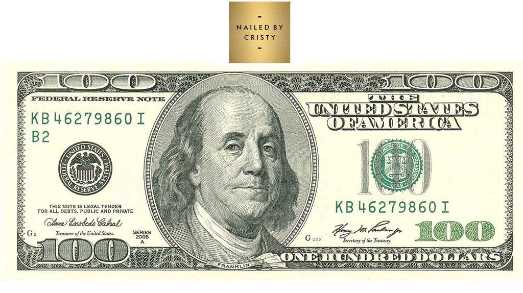 Decals 100 Dollar Bill In 2020 100 Dollar Bill Dollar Bill Nail Decals