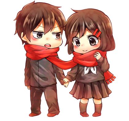 Image Result For Chibi Anime Couple Pasangan Animasi Animasi Gambar Karakter