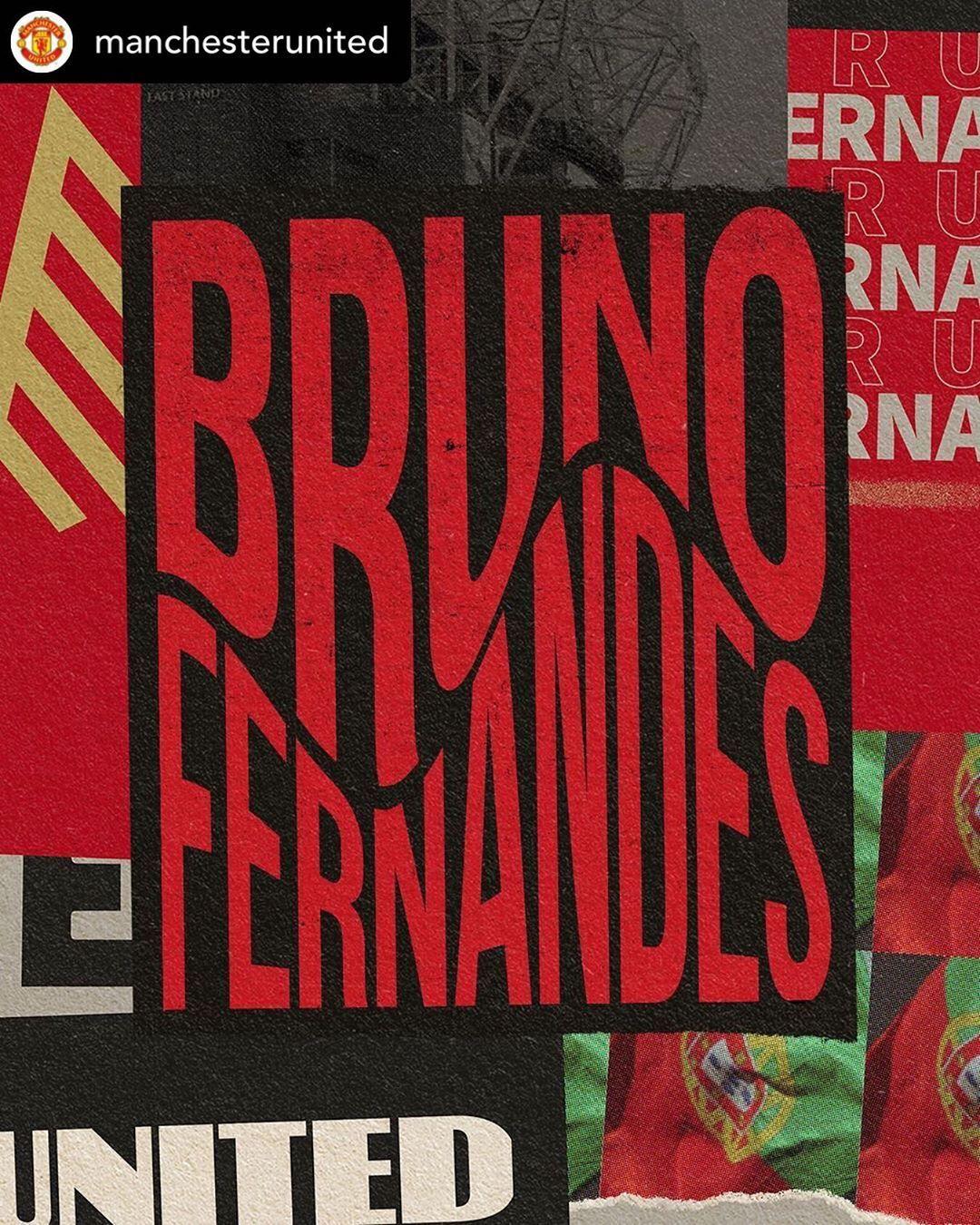 """The Dressing Room on Instagram: """"He's signed! @brunofernandes.10 @manchesterunited #repost #brunofernandes #manutd"""""""