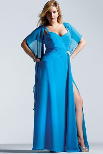 Fuller Figure Evening Dresses - Plus Size Grey Dress