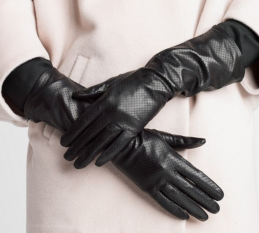 Long leather gloves fall winter fashion accessories 2013 ...
