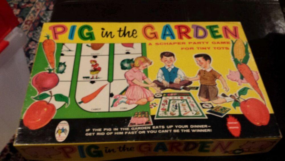 Vintage Pig in the Garden Game