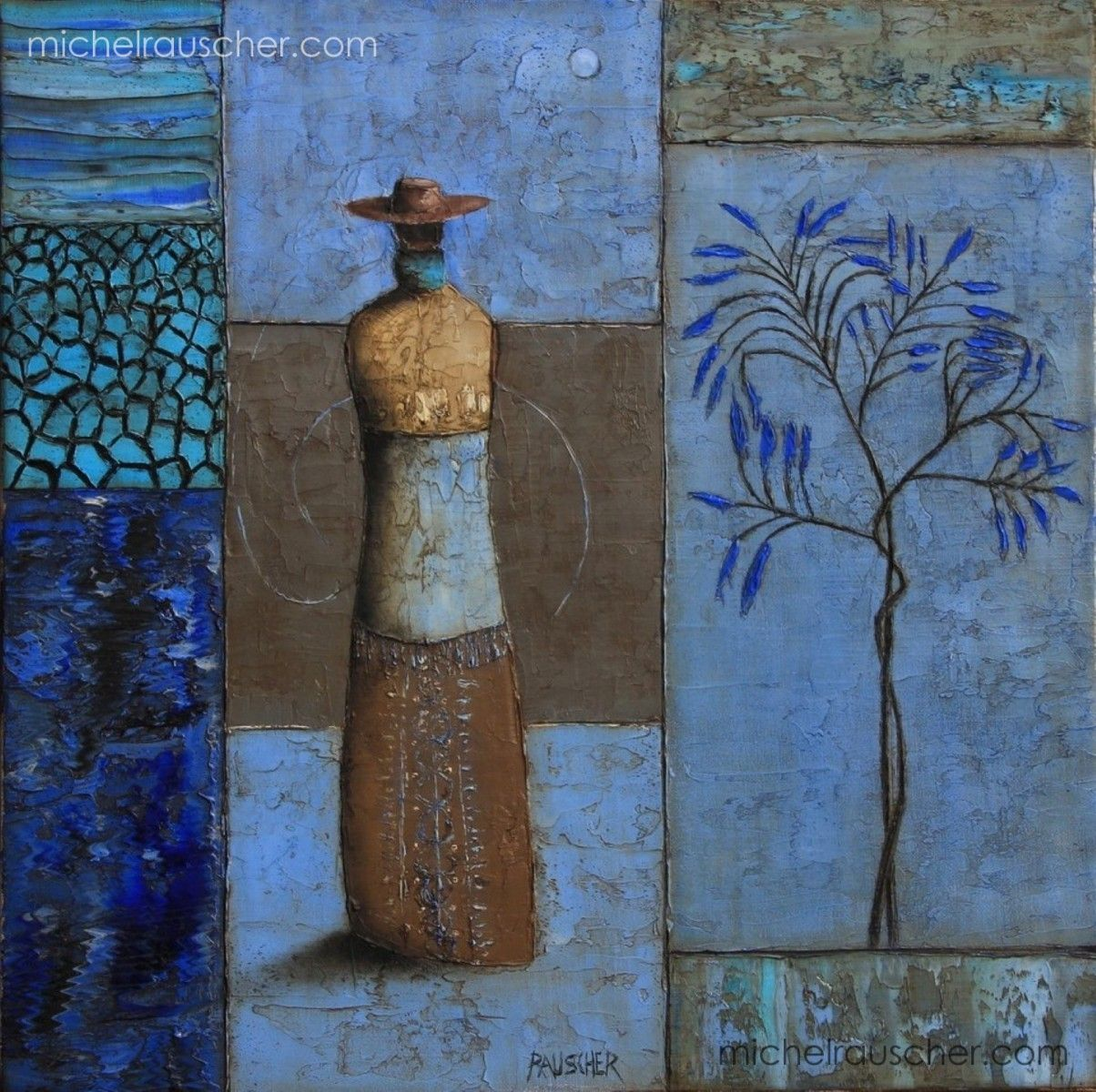 Michel RAUSCHER | Peintures - Huile sur toile - 40 x 40 cm- 2012