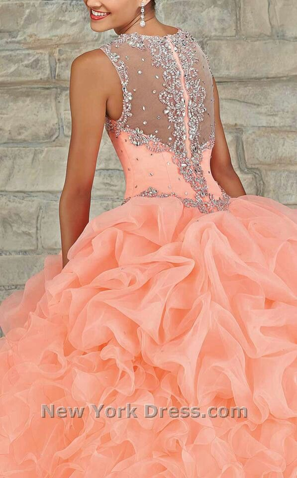 74d711283b5 quinceanera dress Vestidos Color Salmon