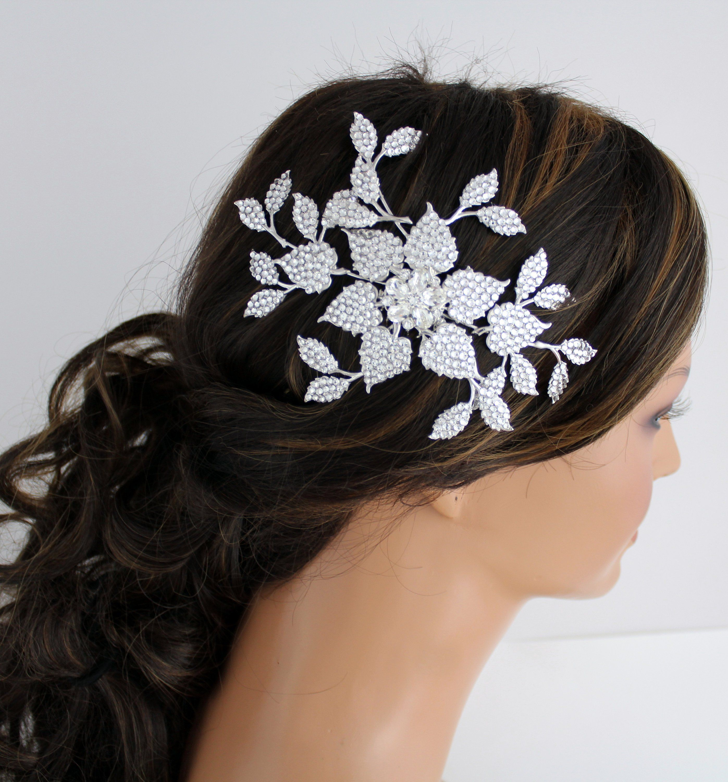 bridal hair comb leaf hair comb bridal headpiece wedding