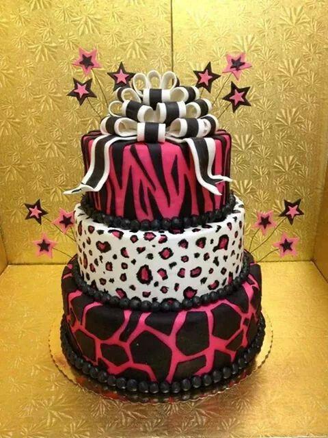 Animal prints cake