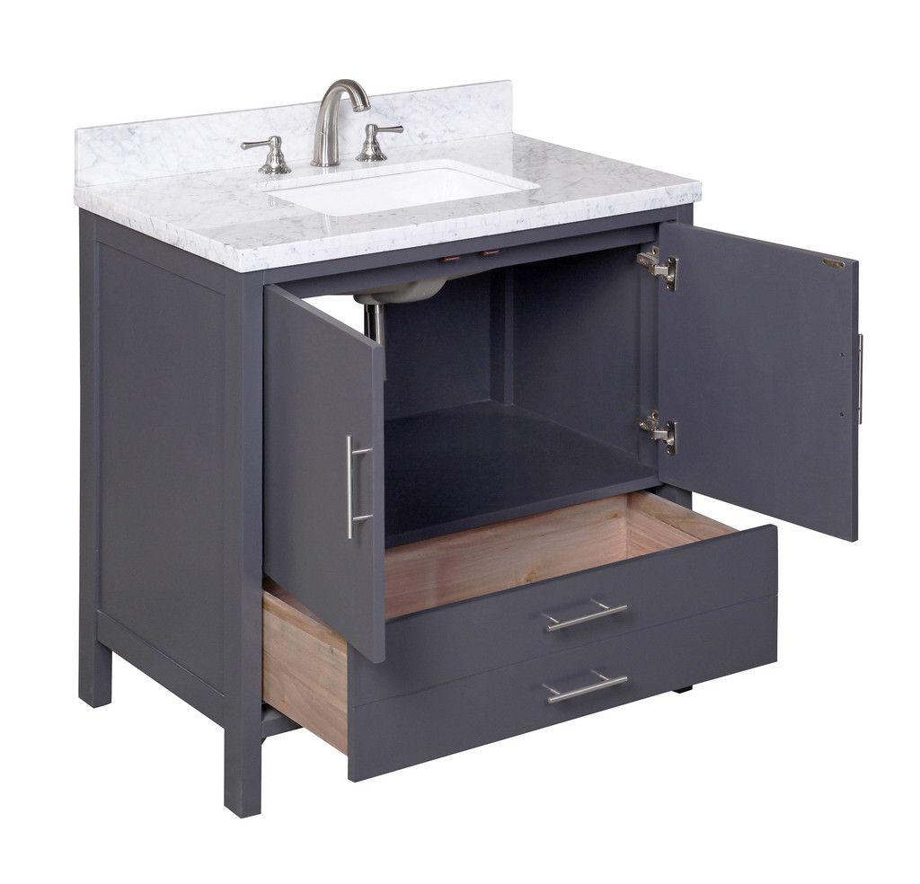 California 36 Inch Vanity Carrara Charcoal Gray 36 Inch Vanity 36 Inch Bathroom Vanity Bathroom Vanity