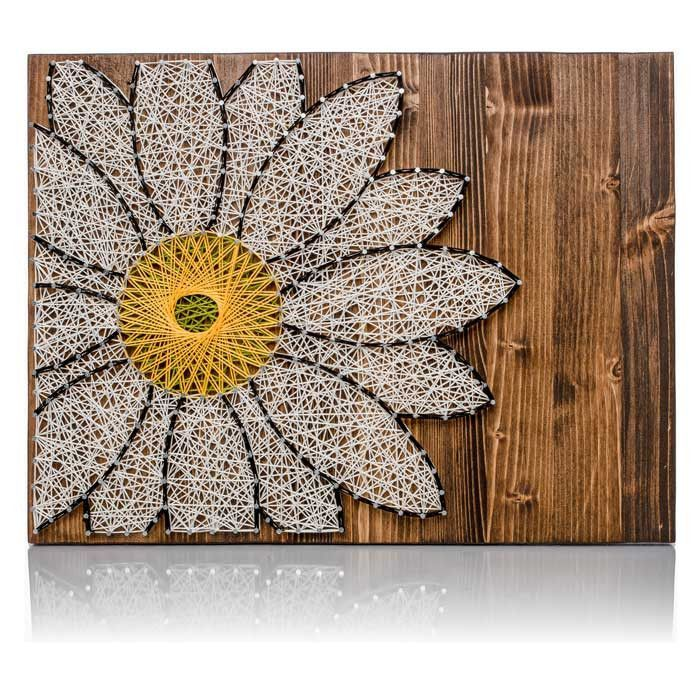 White daisy string art do it yourself kit solutioingenieria Image collections