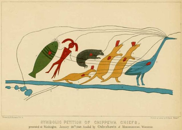Chief Buffalos Petition 1849 Native American American Indians Historical Society