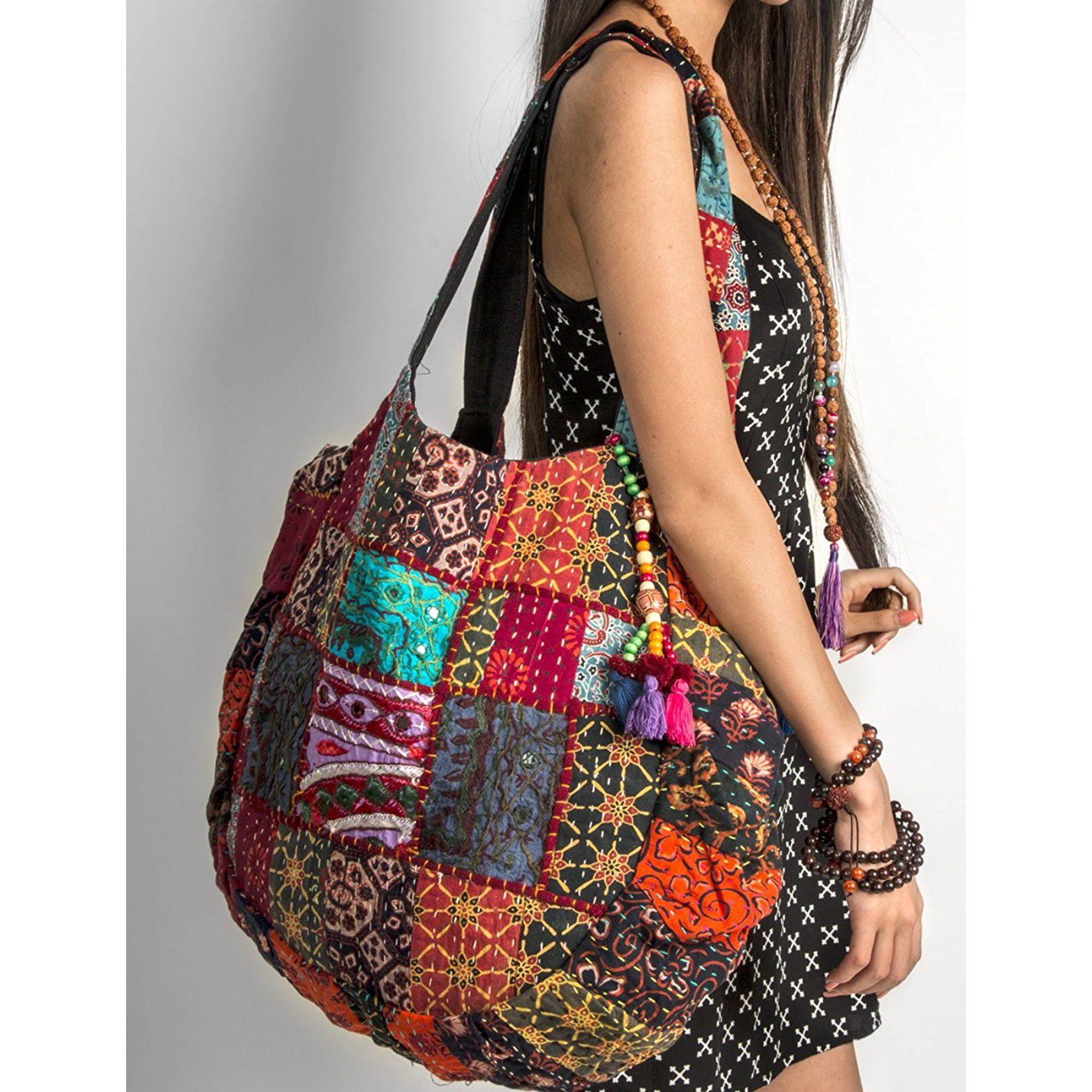 Boho tote bag  Bohemian Bag  Beach bag