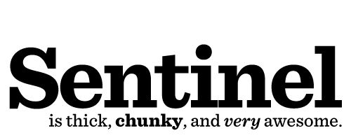 A big, chunky, sexy font (Sentinel /Hoeftler & Frere-Jones)