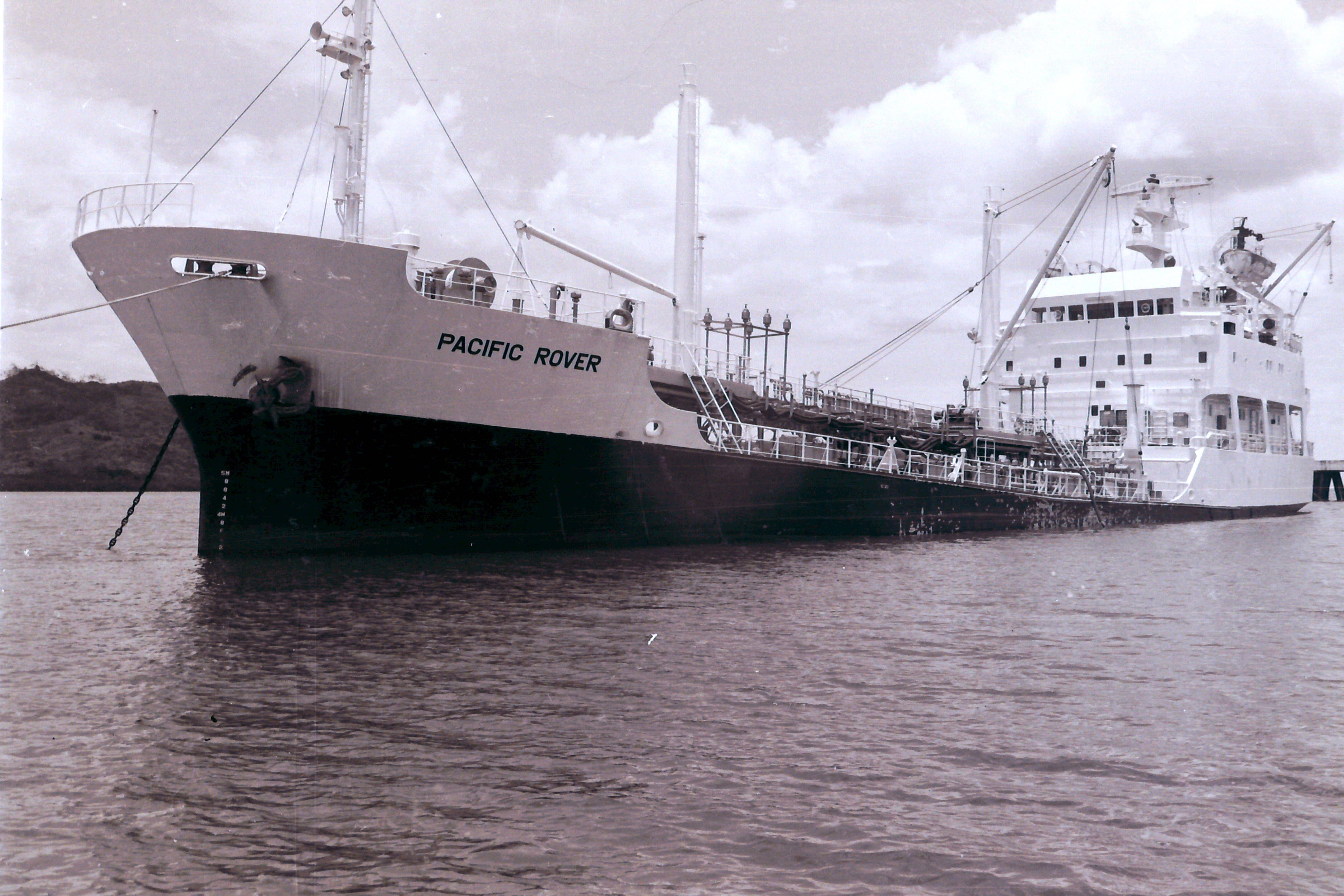 MT Pacific Rover - Loading oil products at Vuda Point.  Lautoka, Fiji. (1983)
