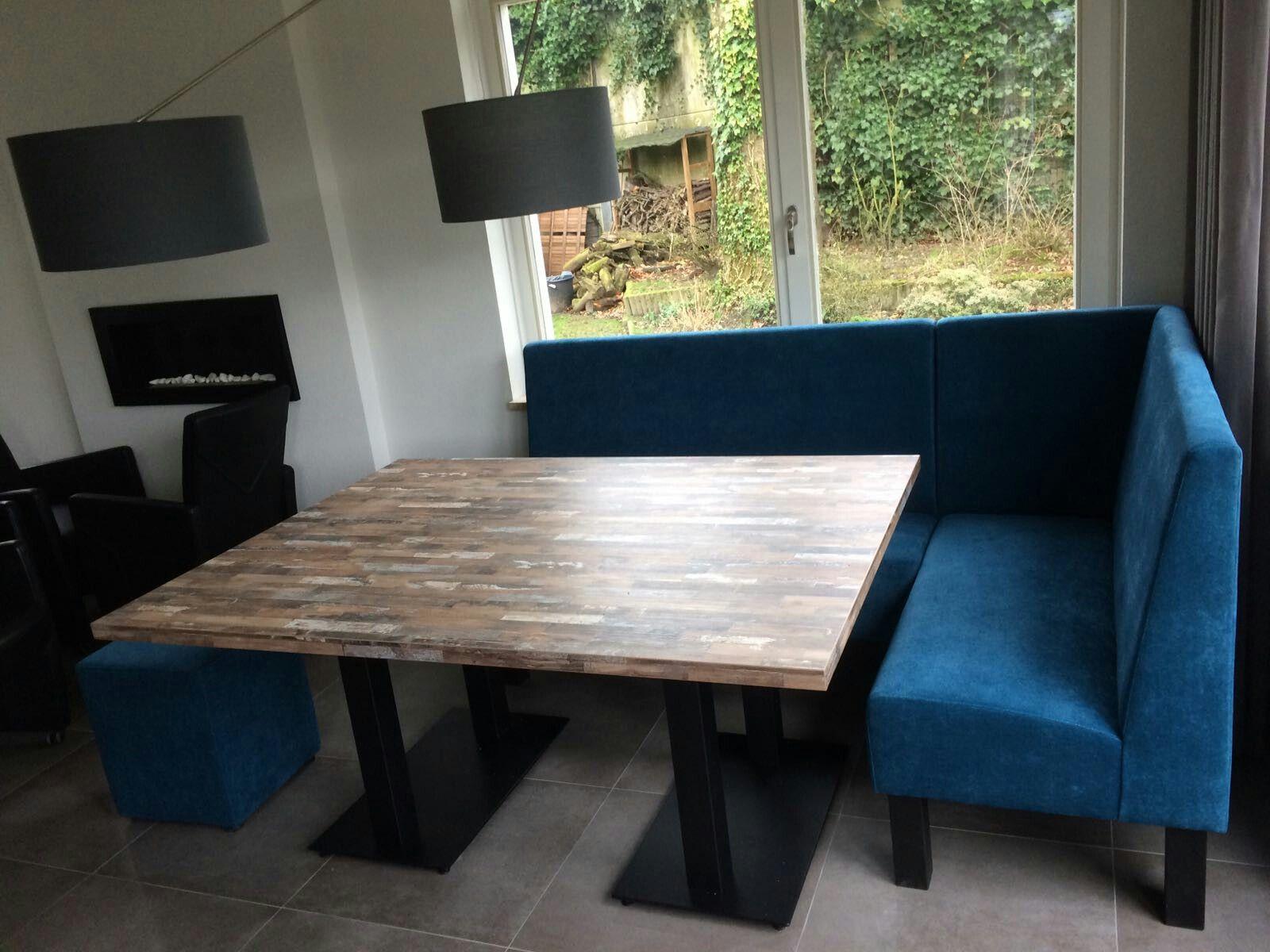Eettafel vierkant met hoek eetkamerbank - kitchens & dining rooms ...