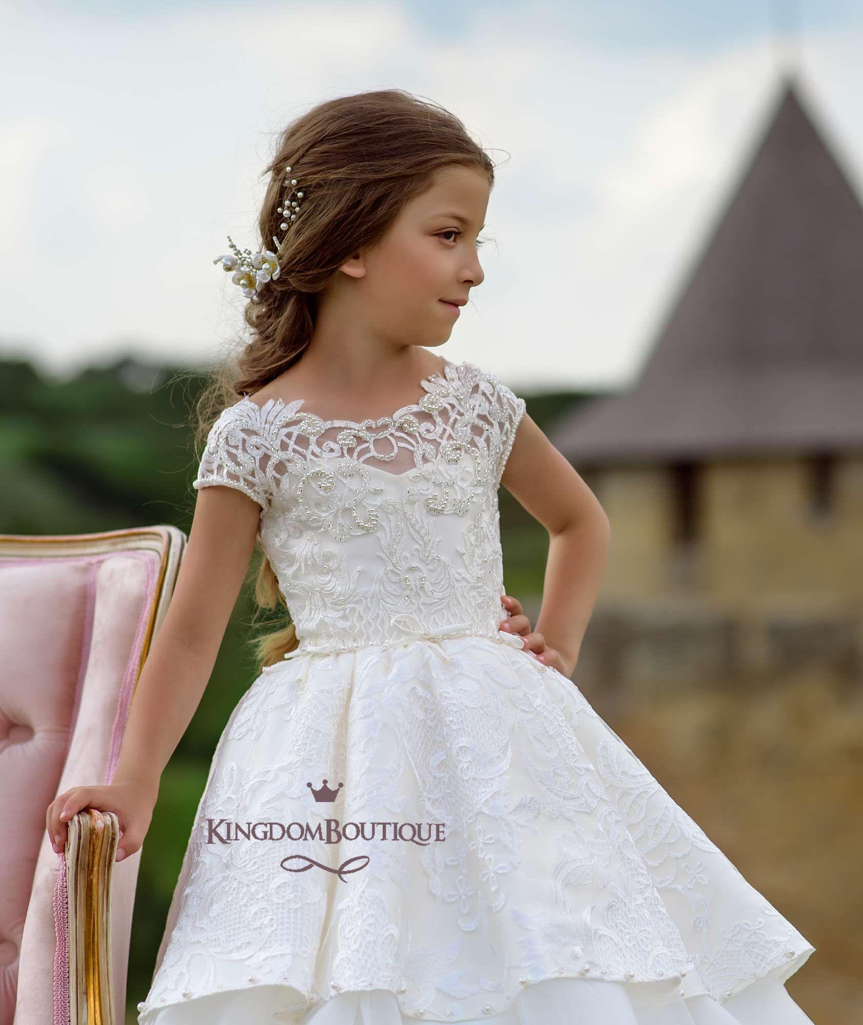 Girls wedding dress    Royal Voyage  Pinterest  Voyage