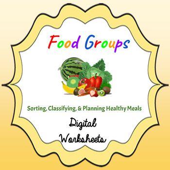 Food Groups & Healthy Eating Digital Worksheets Google Drive ...