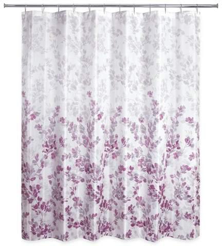Ombre Vine Floral Shower Curtain Plum Purple Allure Home
