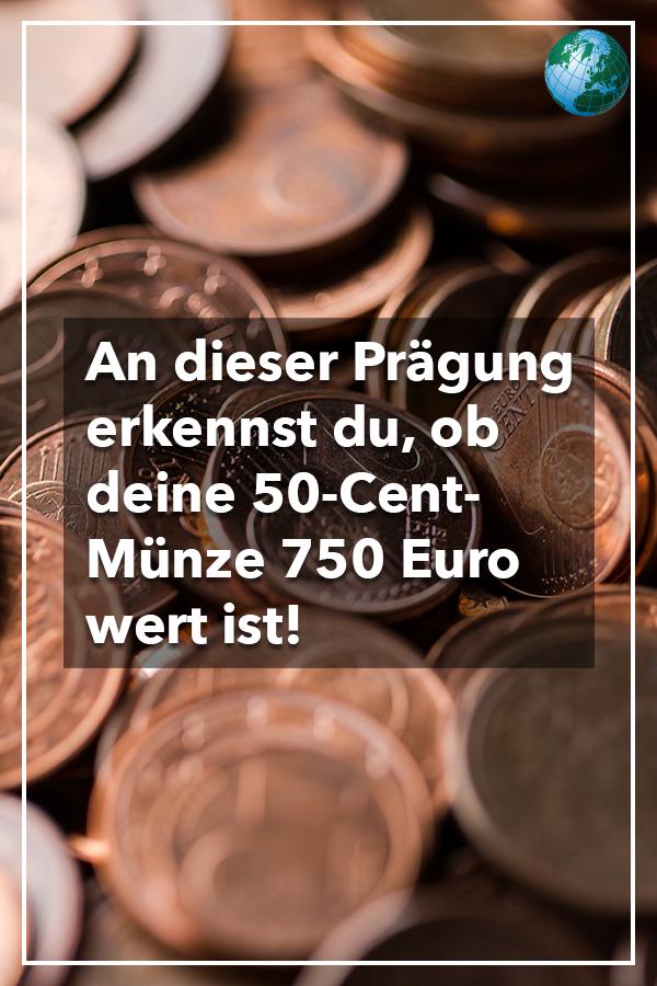An Einer Prägung Erkennst Du Ob Deine 50 Cent Münze 750 Euro Wert