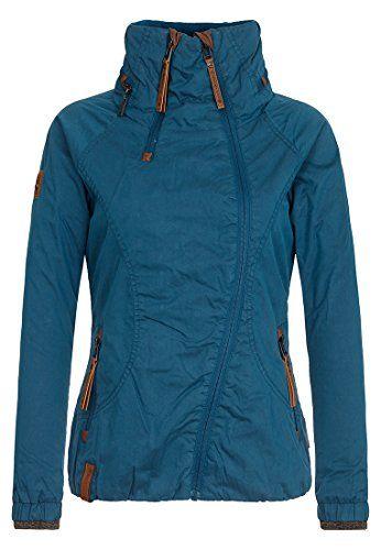5455814ed2e0 Naketano Female Jacket Kanone ist geladen Deepthroat Ocean XL. Jacke mit  Stehkragen und asymmetrischem Reißverschluss. 74% Cotton 26% Polyam…