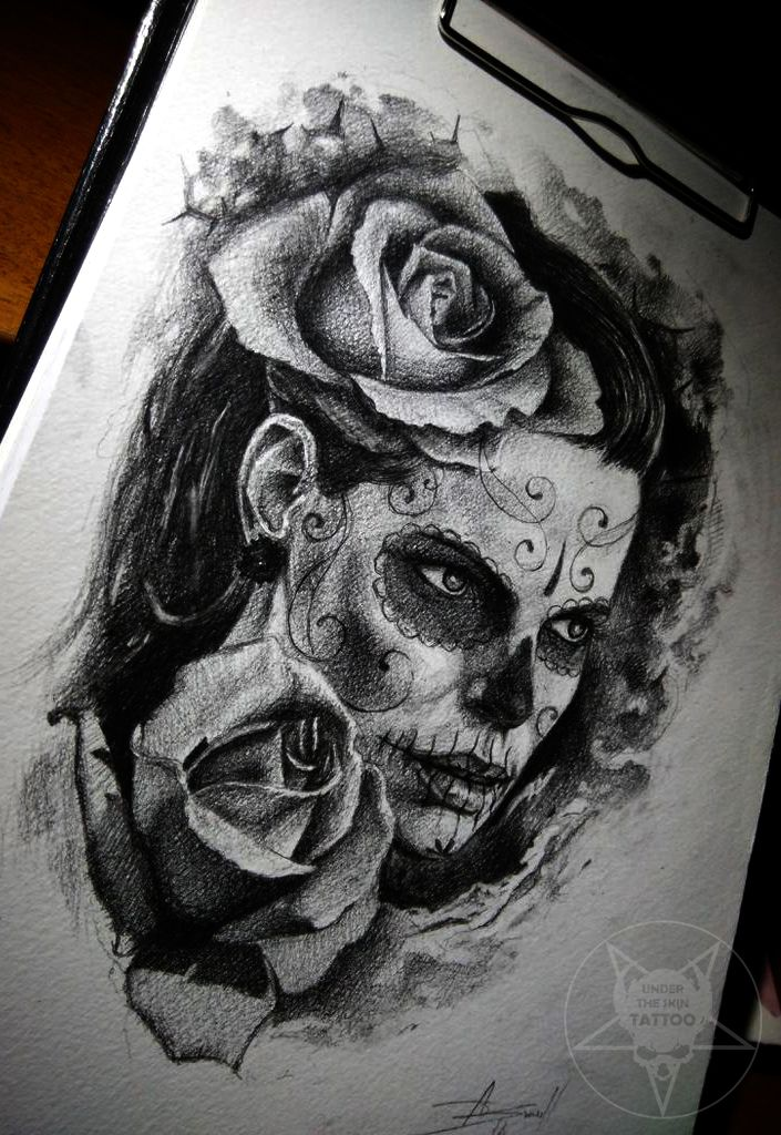 sugar skull face by AndreySkull on DeviantArt