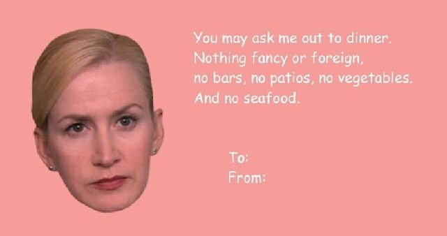 The Office Angela Valentines Card The Office Pinterest The